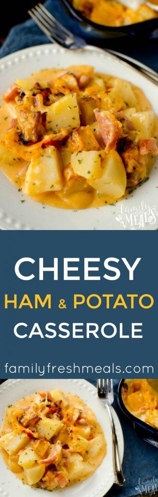 Cheesy Ham and Potato Casserole Recipe. YUM