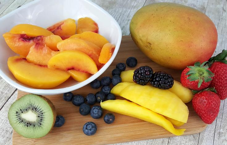 Peach Mango Smoothie Bowl - familyfreshmeals.com