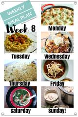 Easy Weekly Meal Plan Week 8