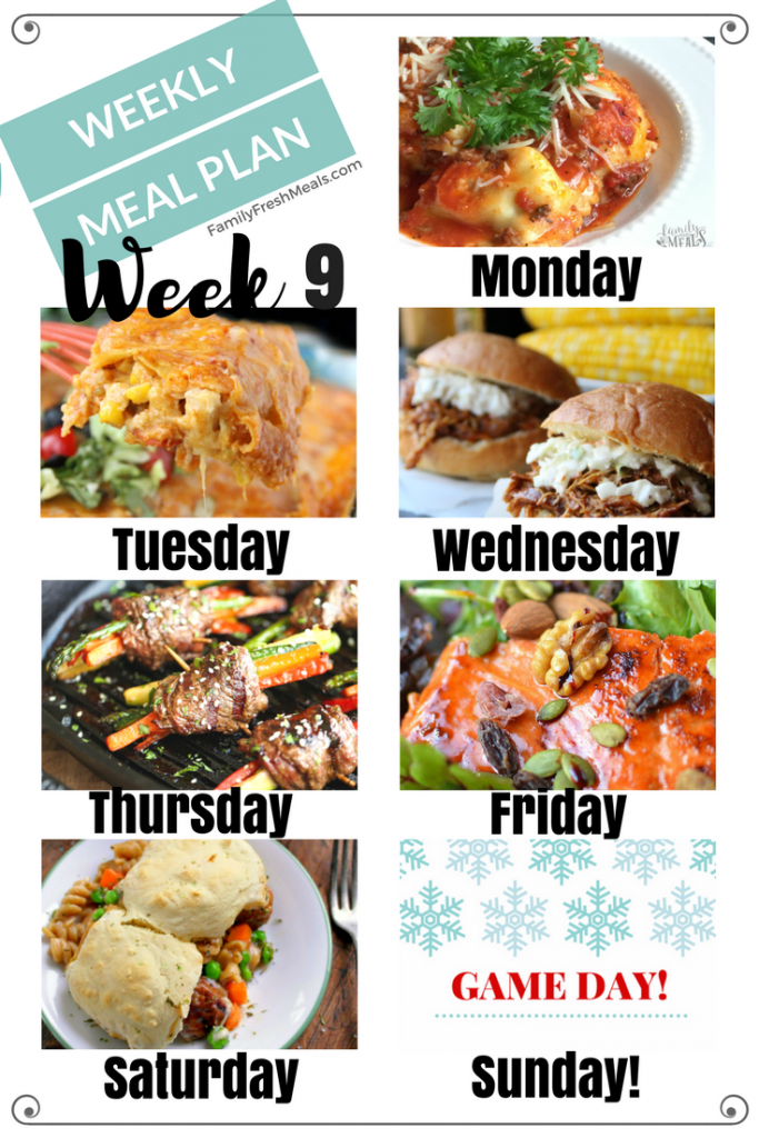 Easy Weekly Meal Plan Week 9 - Family Fresh Meals