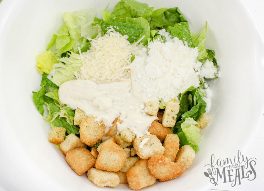Caesar Salad Bacon Cups Recipe - Step 2 - FamilyFreshMeals.com