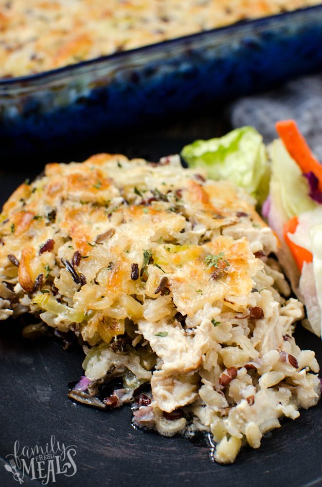 Chicken Wild Rice Casserole - Family Fresh Meals