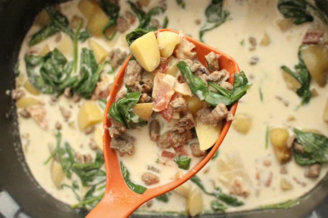 Crockpot Zuppa Toscana Soup - Step 4
