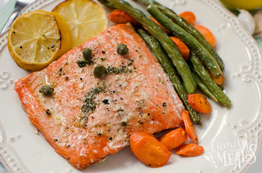 Salmon Sheet Pan Dinner - FamilyFreshMeals.com - FamilyFreshMeals.com