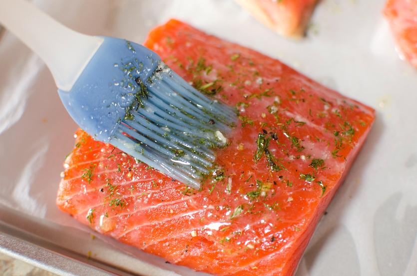 Salmon Sheet Pan Dinner - FamilyFreshMeals.com - Step 2