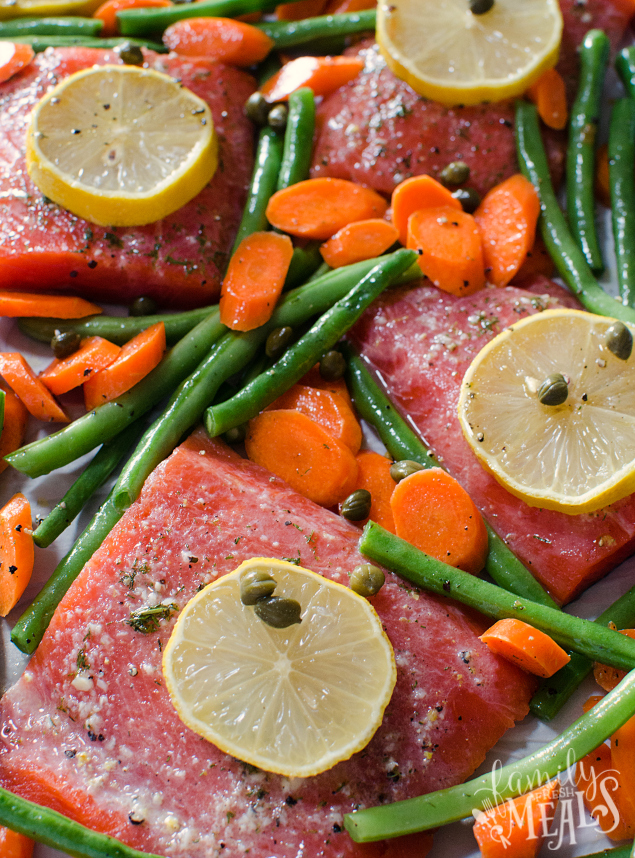 Salmon Sheet Pan Dinner - FamilyFreshMeals.com - Step 4