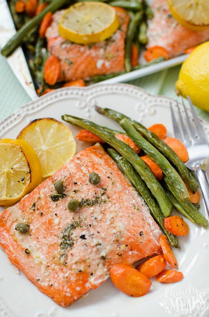 Salmon Sheet Pan Dinner - FamilyFreshMeals.com - Yummy Family Fresh Meals