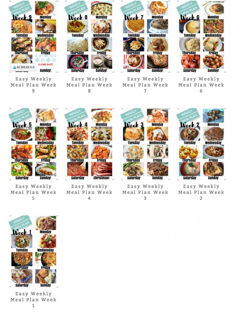 Easy Weekly Meal Plan Week 10 - FamilyFreshMeals.com