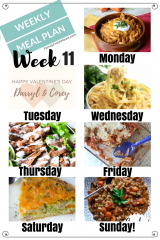 Easy Weekly Meal Plan Week 11