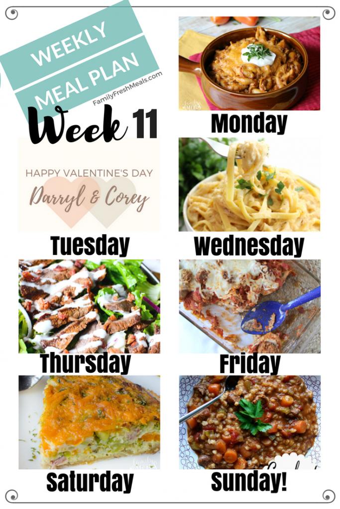 Easy Weekly Meal Plan Week 11