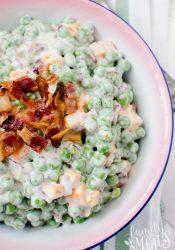 Creamy Bacon Pea Salad