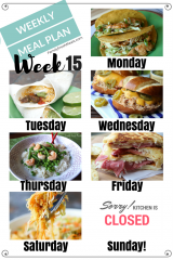 Easy Weekly Meal Plan Week 15