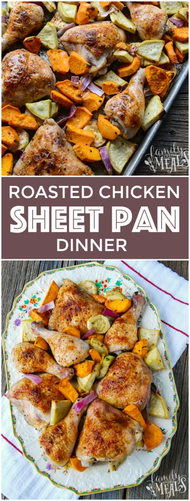 Roasted Chicken Sheet Pan Dinner - Easy Family Recipe