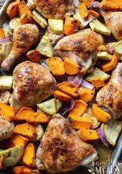 Roasted Chicken Sheet Pan Dinner