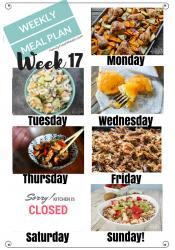 Easy Weekly Meal Plan Week 17