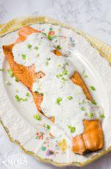 Easy Baked Salmon with Creamy Lemon Yogurt Sauce