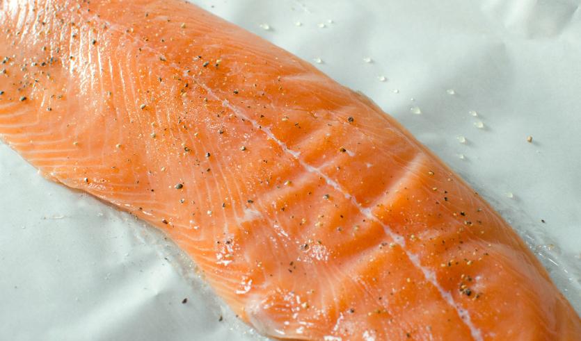 Easy Baked Salmon with Creamy Lemon Yogurt Sauce - Step 1