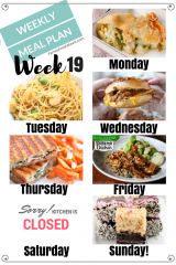 Easy Weekly Meal Plan Week 19