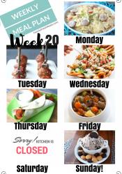 Easy Weekly Meal Plan Week 20