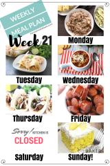Easy Weekly Meal Plan Week 21