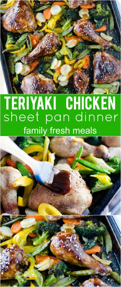 Teriyaki Chicken Sheet Pan Dinner - Family Fresh Meals