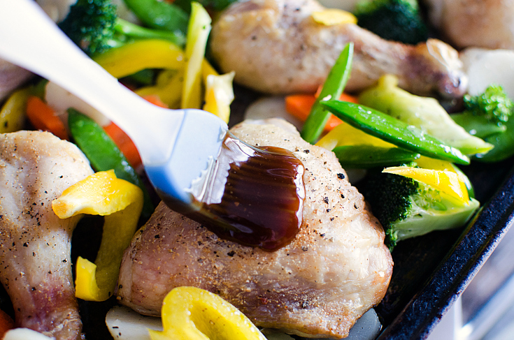 Teriyaki Chicken Sheet Pan Dinner - Step 3