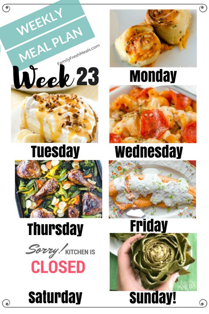 Easy Weekly Meal Plan Week 23