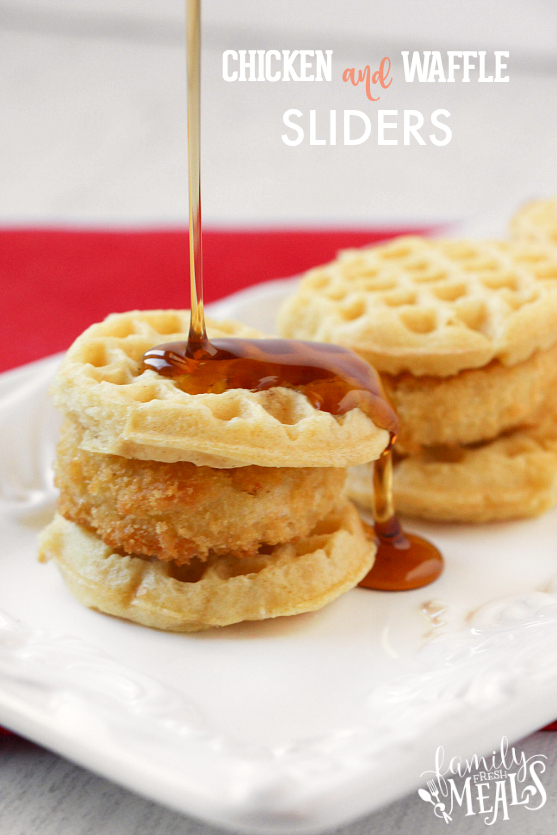 Chicken and Waffle Sliders - Family Fresh Meals